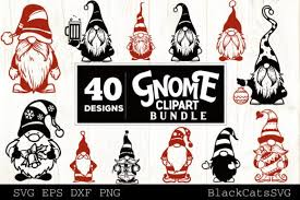 Freesvg.org offers free vector images in svg format with creative commons 0 license (public domain). Christmas Gnomes Svg Bundle Gnome Clipar Graphic By Blackcatsmedia Creative Fabrica