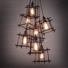cheap industrial lighting. Modern 7 Light Square Shaped Shade Industrial Style Lighting Intended For  Decor 10 Cheap Industrial Lighting