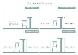 Bar Stool Size Chart Standard Bar Height Sim Sys Co