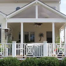 ... Meet the covered backyard porches with personality, from Archadeck.  A-frame roof line ...
