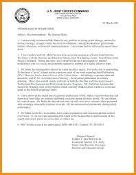 Military Letter Recommendation 11 12 Letter Or Recommendation Template Se Chercher Com