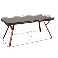 Wohnling Esstisch Massiv Dewas Esszimmertisch Holz Metall Küchentisch 180 Cm