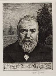 Symbolismus, Symbolismus <b>Hans Thoma</b> 3 - 460_Hans_Thoma,_Self_Portrait_II,_etching,_1898,_signed,_The_Daulton_Collection