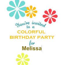 Customizable Invitation Templates Birthday Party Invitation