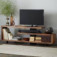 tv stands with soundbar space. Open Shelf For Sound Bar Thick Metal Plate Down The Center To Hide Cords Uneven Wood Surface Way Too Wide My Room Tv Stands With Soundbar Space