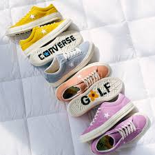 converse golf le fleur. the @converse one star x golf le fleur collection from @tylerthecreator will be online tomorrow. #uomens https://t.co/x5znjzh5ys\ converse c