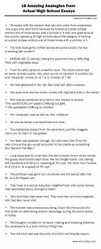 amazing analogies from actual high school essays list funny 18 amazing analogies from actual high school essays list funny