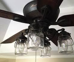 Elegant Mason Jar Ceiling Fan Light