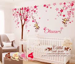 wall decal for office. Delighful Office Nursery Wall Decal Cherry Blossom Tree With Baby Name Office  Decals  In Wall Decal For Office