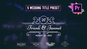 Wedding Title Free Animated Wedding Title Preset Premiere Pro Motion Graphic Template