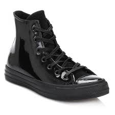 factory womens converse black all star hi patent leather trainers black f48o9272 worldwide atlanta world wide renown atlanta