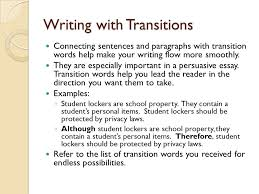 writing a persuasive research essay what is persuasive writing writing transitions connecting sentences and paragraphs transition words help make your writing flow more