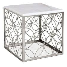 Andrew Polished Nickel Cube Table Regina andrew 5 580