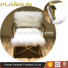 replica designer furniture x shaped frame gigi mongolian fur director chair gold