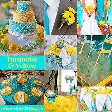 Turquoise and Yellow Wedding Colors