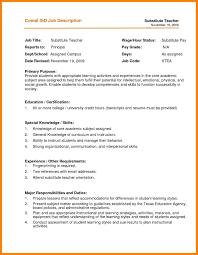 8 Substitute Teaching Resume Sample Resume For Teaching Position