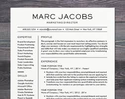 ... Modern Resume Template 8 CV For Word Mac Or PC Professional Design ...