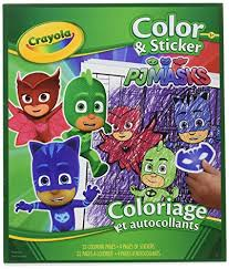 Amazoncom Crayola Pj Masks Color And Sticker Book Office Products