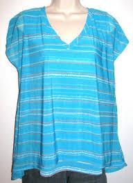 Dana Buchman Size Chart Dana Buchman Turquoise Cap Sleeve Stretch Swing Tee Size Large Ebay