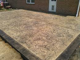 ashlar slate stamp patio with border stamped concrete patio