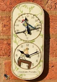Home Decor : Outdoor Clock With Thermometer Contemporary Breakfast ...