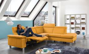 nh 5034 yellow leather sectional