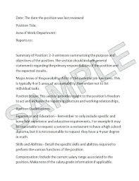 Analysis Template Job Description Ada Compliant Example Software ...