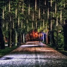 Diy Meteor Shower Lights Diy Halloween Decorations Letour Led Meteor Lights Icicle
