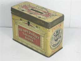 Old Shop Stuff Old tin CWS Pelaw Polish Money Box for sale 7963
