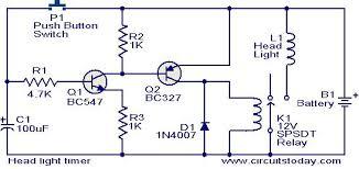 timer circuit diagram ireleast info head light timer circuit electronic circuits and diagram wiring circuit