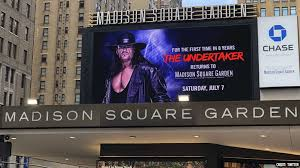undertaker madison square garden msg wwe