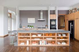 Kitchen Island Open Shelves Open Shelves As A Part Of A Kitchen Interior