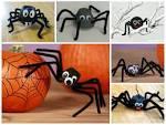 Поделка паутина с пауком из природного