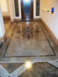 stained concrete floor idea for front porch