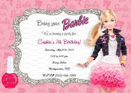 barbie birthday invitations ctsfashion com barbie invitation