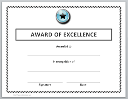 certificate templates for word microsoft and open office award of excellence certificate templates