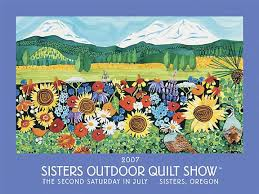 2007 sisters outdoor quilt show poster painting by kathy ... & 2007 sisters outdoor quilt show poster painting by kathy deggendorfer Adamdwight.com