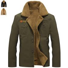 Winter Military Bomber Jacket Men Air Force Pilot MA1 Jackets ...