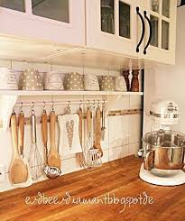 This would be so easy to DIY with a curtain rod and S hooks! | For the Home  | Pinterest | Easy, Kitchens and Organizations