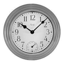 la crosse 29007 indoor outdoor wall clock with temperature 40f 120f
