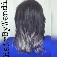 Hair by Wendi - Black to silver hair melt 🖤 #matrixsocolor... | Facebook