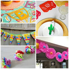 collage of diy cinco de mayo party supplies