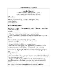 easy resume templates sample of high school resumes best nanny child care nanny cover letter sample babysitting sample resume
