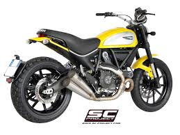 sc project shop ducati scrambler twin conic silencers for