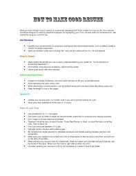 How To Make A Good Resume How To Make A Good Resume Making A Good