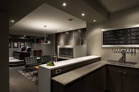 man cave lighting. Man Cave Lighting Basement Contemporary With Bar Fridge Basement. Image By: Kal Wallner