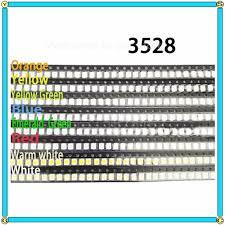 400pcs 8 color 3528 SMD LED Diodes <b>Red</b>/<b>Yellow Green</b>/<b>Blue</b> ...