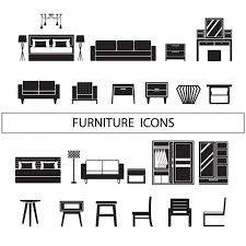 back of beach chair silhouette. Furniture Icons Collection Back Of Beach Chair Silhouette C