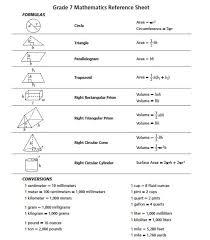 6th Grade Math Reference Chart Bedowntowndaytona Com