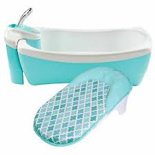 summer infant lil luxuries whirlpool bubbling spa shower bath tub blue new